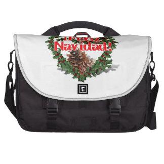 Guirnalda del corazón del navidad (Feliz Navidad) Bolsa Para Ordenador