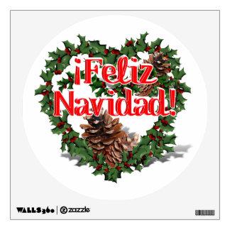 Guirnalda del corazón del navidad (Feliz Navidad)