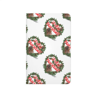 Guirnalda del corazón del navidad (Feliz Navidad) Cuaderno Grapado