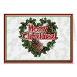 Guirnalda del corazón del navidad tarjetas