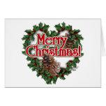 Guirnalda del corazón del navidad tarjeton