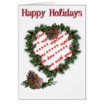 Guirnalda del corazón en blanco tarjeta de felicitación