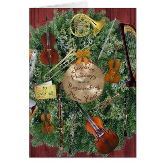 Guirnalda del día de fiesta de los instrumentos de felicitacion