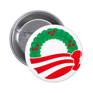 Guirnalda del día de fiesta de Obama Pin Redondo De 2 Pulgadas