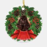 Guirnalda del día de fiesta del navidad de cocker adornos de navidad