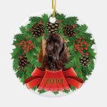 Guirnalda del día de fiesta del navidad de cocker ornamentos de navidad