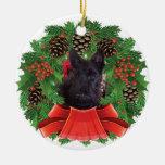 Guirnalda del día de fiesta del navidad del perrit ornamentos de reyes