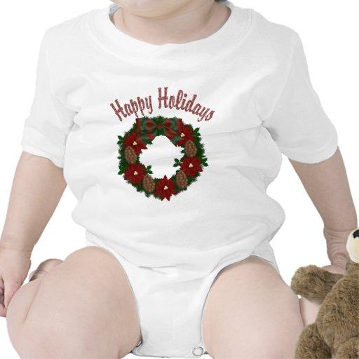 Guirnalda del día de fiesta del navidad - traje de bebé