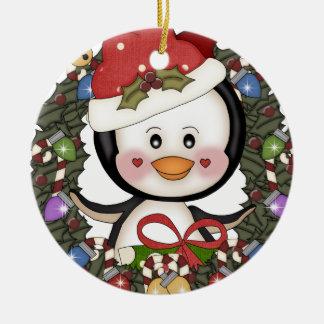 Guirnalda del día de fiesta del pingüino del navid adornos de navidad