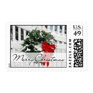 Guirnalda del día de fiesta • Felices Navidad Sellos Postales