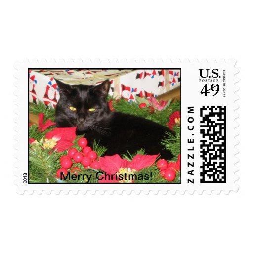Guirnalda del gato sello postal