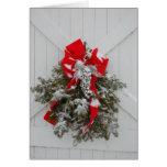 Guirnalda del granero del navidad tarjeta