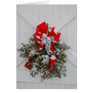 Guirnalda del granero del navidad tarjeta de felicitación