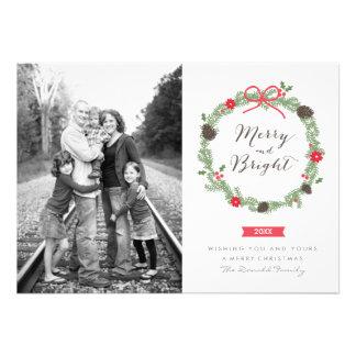 Guirnalda del invierno por las tarjetas de la foto comunicado
