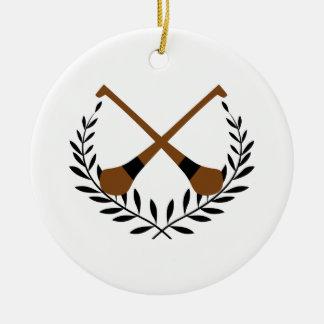 Guirnalda del lanzamiento adorno navideño redondo de cerámica