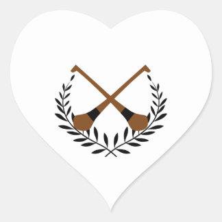 Guirnalda del lanzamiento pegatina en forma de corazón
