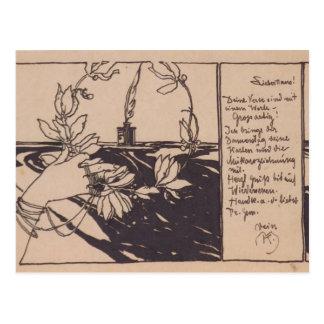 Guirnalda del laurel de Koloman Moser- Tarjetas Postales