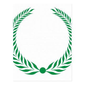 Guirnalda del laurel - verde postales