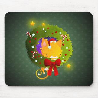 Guirnalda del navidad alfombrilla de raton