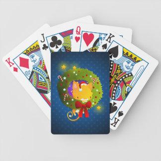 Guirnalda del navidad barajas de cartas