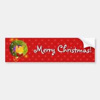 Guirnalda del navidad etiqueta de parachoque