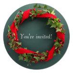 Guirnalda del navidad con la cinta del terciopelo anuncio