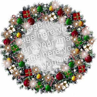 ¡Guirnalda del navidad con su propia foto! Adorno Fotoescultura