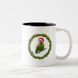 Guirnalda del navidad de Conure Taza De Café