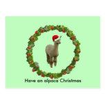Guirnalda del navidad de la alpaca postal
