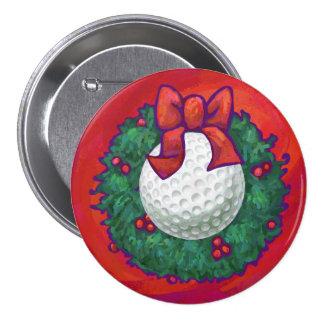 Guirnalda del navidad de la pelota de golf