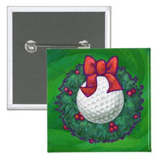 Guirnalda del navidad de la pelota de golf pin