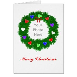 Guirnalda del navidad de los corazones altos (marc felicitaciones