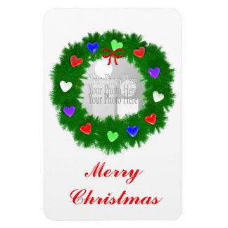 Guirnalda del navidad de los corazones (marco de l imanes rectangulares