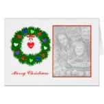 Guirnalda del navidad de los corazones (marco de l tarjetas