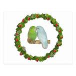 Guirnalda del navidad de los pares de Parrotlet Postal
