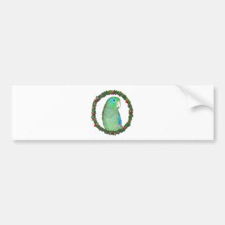 Guirnalda del navidad de Parrotlet Etiqueta De Parachoque