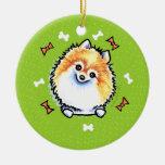 Guirnalda del navidad de Pomeranian Ornamentos De Navidad