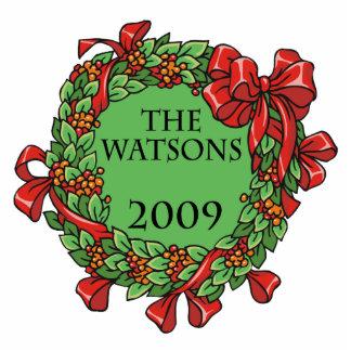 guirnalda del navidad de watson 2009 adorno fotoescultura