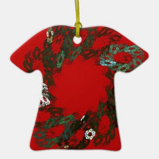 Guirnalda del navidad adorno de cerámica en forma de playera