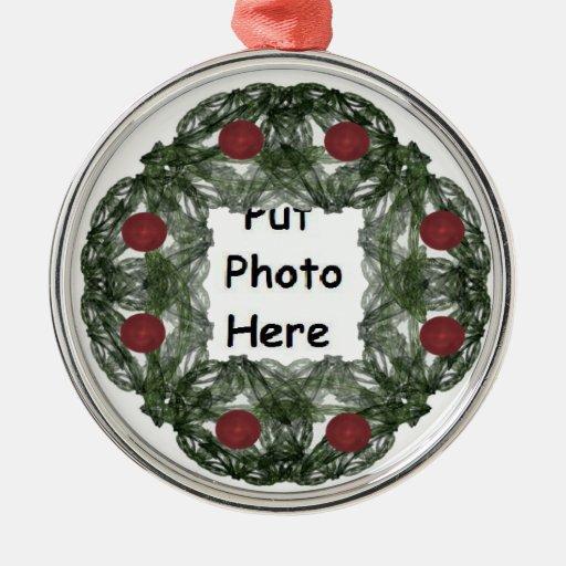Guirnalda del navidad del arte del fractal con el ornato