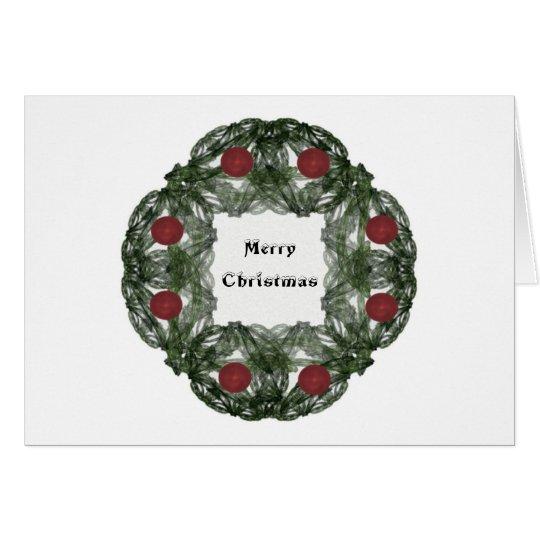 Guirnalda del navidad del arte del fractal con los tarjeta de felicitación