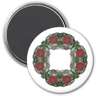 Guirnalda del navidad del arte del fractal imán para frigorifico