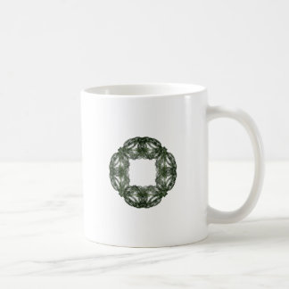 Guirnalda del navidad del arte del fractal taza