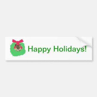 Guirnalda del navidad del día de fiesta del león d pegatina de parachoque