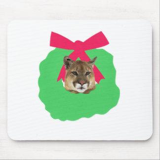Guirnalda del navidad del día de fiesta del león d mouse pad