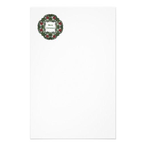 Guirnalda del navidad del fractal con los ornament  papeleria de diseño
