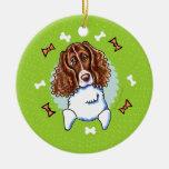 Guirnalda del navidad del perro de aguas de ornatos