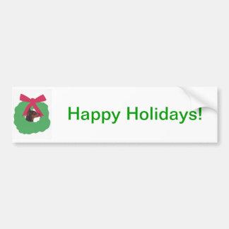 Guirnalda del navidad del Pinscher miniatura Pegatina De Parachoque