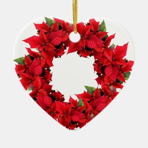 Guirnalda del navidad del Poinsettia Ornatos