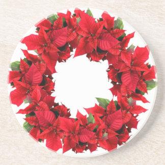 Guirnalda del navidad del Poinsettia Posavasos Manualidades